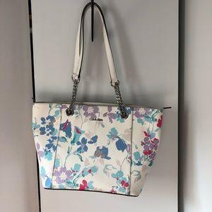 Calvin Klein Floral Tote Handbag